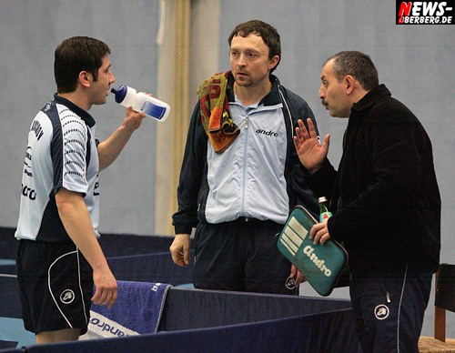 Mohamed Kushov, Vladislav Broda und Sandor Jankovic (TTC Schwalbe Bergneustadt)