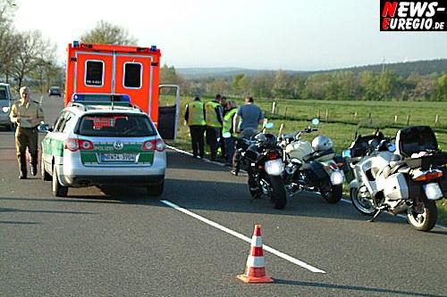Aachen/Düren: Sonntagsausflug endete im Krankenhaus! Motorradfahrer `schossen` sich gegenseitig ab