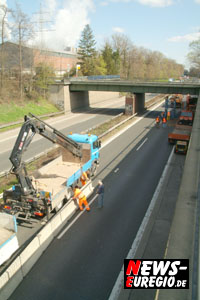A4: Zwischen Eschweiler und Weisweiler läuft der Verkehr wieder auf vier Fahrstreifen!!