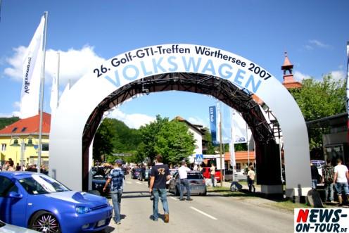Reifnitz: Tausende Fans @´26. Golf-GTI-Treffen Wörtersee 2007 VOLKSWAGEN!´ Der See rief – Und alle kamen
