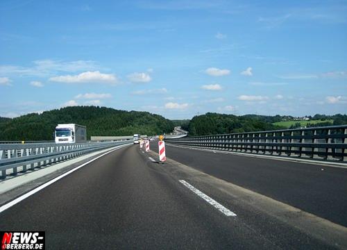 A4 (Wiehl): Sorgenkind Wiehltalbrücke bekam neue Fahrbahndecke. Verkehr wurde auf 20 Km/H gedrosselt! Ab heute wieder 60 Km/H