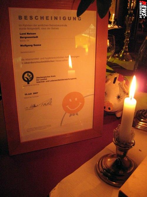 Bergneustadt: Besondere Auszeichnung erhalten! Das ´Lord Nelson´ hat seit Juli auch einen NRW-Smiley