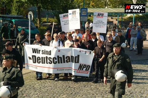 Düren: Erster NPD Aufmarsch nach mehr als 60 Jahren!! Je schwächer der Inhalt desto lauter sind die Parolen