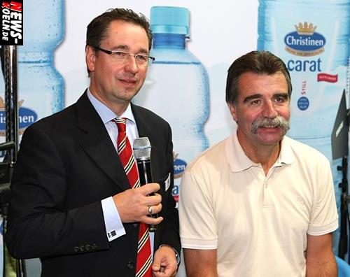 Köln: ANUGA 2007! Handball Bundestrainer Heiner Brand zu Gast am ´Christinen Brunnen´ Stand. Das Thema Nr. 1 war der VfL Gummersbach