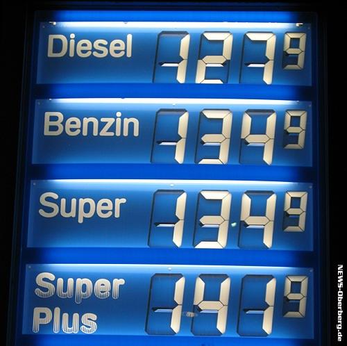 Der Preis das Benzin ass das Nischegoroder Gebiet