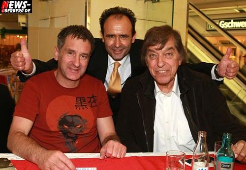 Eike Immel + Volker Simstich (KarstadT GM Geschöftsführer) + Bata Illic (Wie ein Liebeslied) @Gummersbach