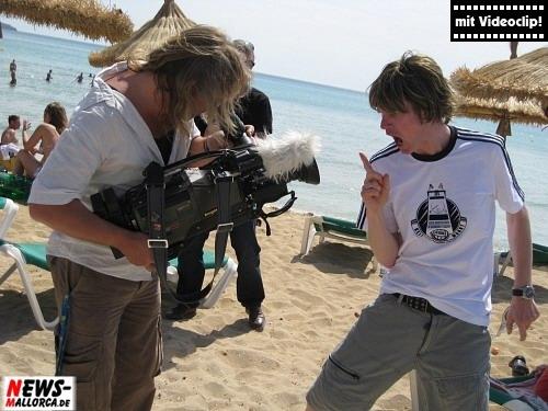 Mickie Krause ´Supa Deutschland´ EM-Fussball-Song. DSF-ProSieben Videodreah am Ballermann 6 - Mallorca. Foto: `Der Sasse´ Foto+TV Agentur www.NTOi.de