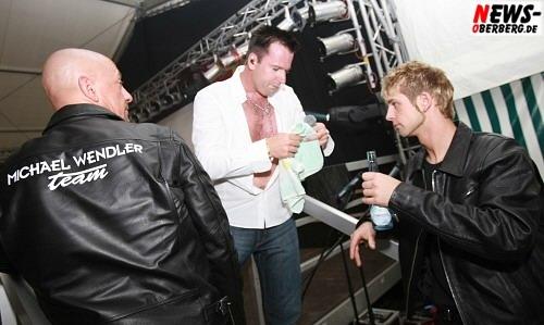 Chris (l.) Michael Wendler Team (Security) Fahrer