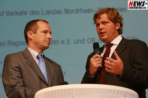 Oliver Wittke (l., NRW-Bau- und Verkehrsminster) und Dr. Reimar Molitor (r., Geschäftsführer der Regionale 2010 Agentur) @Steinmüller Projekttag 2008