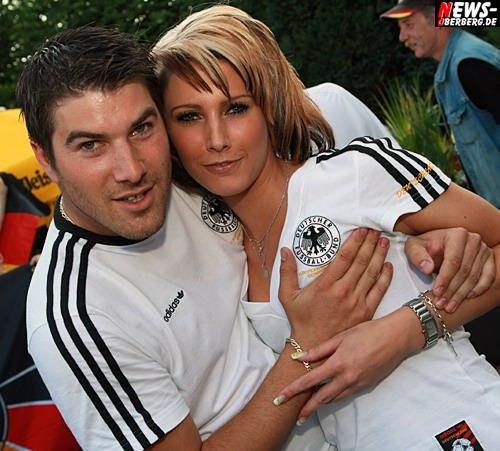 Dennis Sasse und Tina Grau (Unter Deck - Biergarten) EM GER-POL