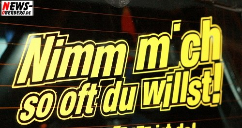 Nimm mich so oft du willlst!