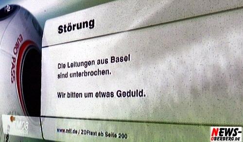 Störung EM Halbfinale. Die Leitungen aus Basel sind unterbrochen. Wir bitten um etwas Geduld. Euro Pass. EM 2008