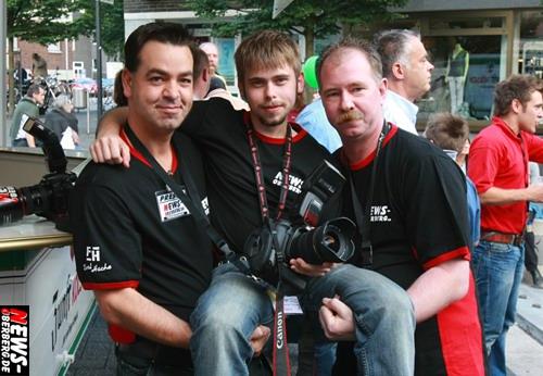 NEWS-Team: Christian Sasse, Nico Schmidt und Peter Grau - Lindenplatz Open Air 2008 (Gummersbach)