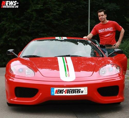 Christian Sasse mit seinem Ferrari Challenge Stradale
