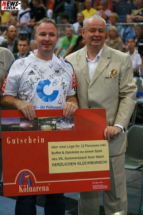 Millionster Handball Gast (Kölnarena) und Ralf Bernd Assenmacher