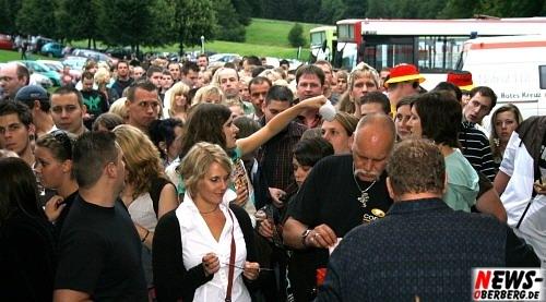 Gut Haarbecke MK-Mallorca Party Eingang Menschenmassen an Kasse