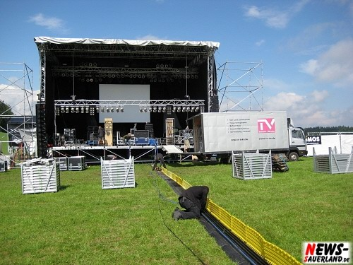 Olpe Ole 2008 - Aufbauarbeiten - Bühne