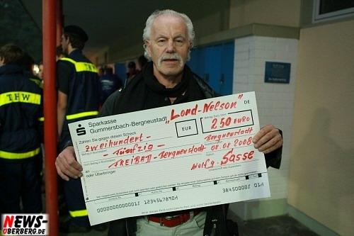 Wolfgang Sasse Spendenübergabe