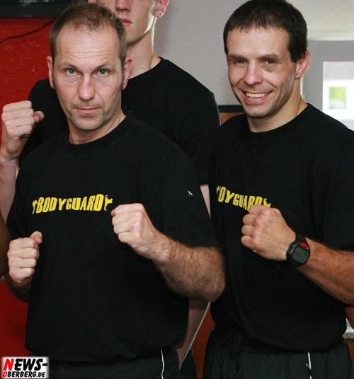 Uwe Leimbach (Weltmeister Profi-Kickboxen) und Rene Müller (Weltmeister Profi-Kickboxen, Weltmeister Profi-Thaiboxen)
