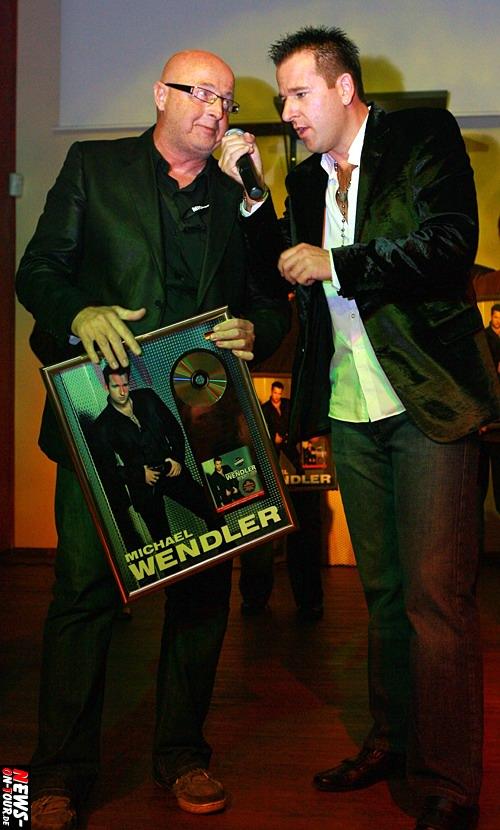 Bodo Krohn und Michael Wendler - Goldene Schallplatte @Oberhausen Steffy