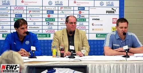 Pressekonferenz - Sead Hansafendic, Thomas Kalus und Alfred Gislason
