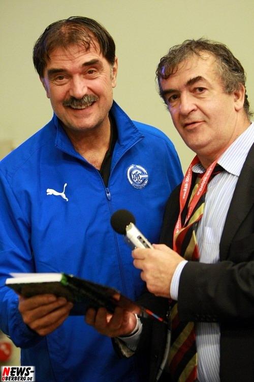 Sead Hasanefendic (VfL Gummersbach) und Zdravko Lipovac (Sar Radio)