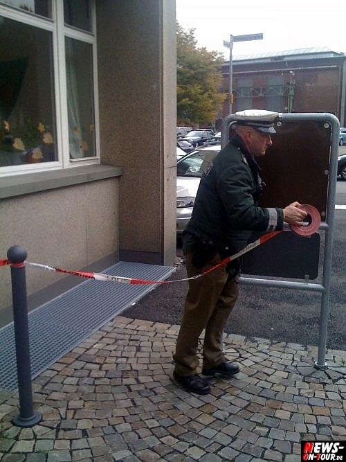 Polizei sperrt Steinmüllergelände ab