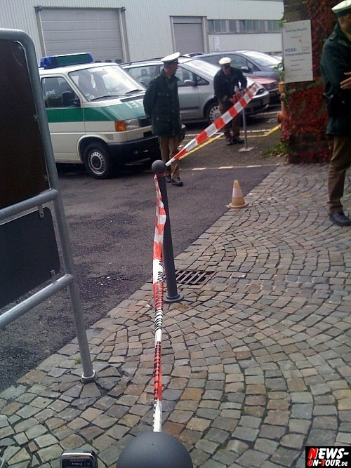 Polizeiabsperrung - Bombendrohung - Horst Köhler
