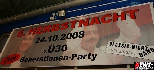 6. Herbstnacht - 1. Ü30 Generation-Party (24.10.2008)
