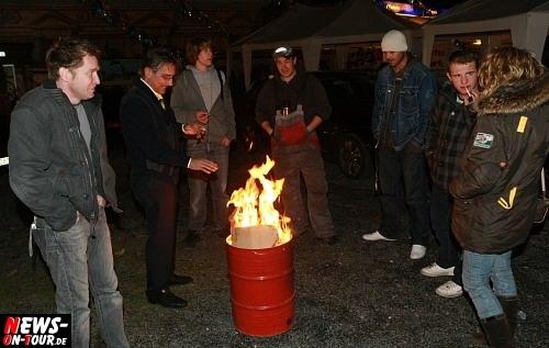 Ghetto - brenndende Mülltonne