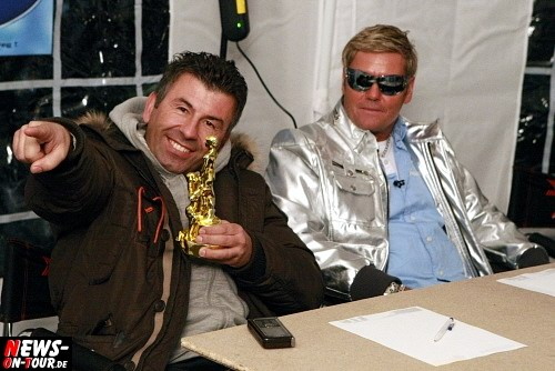 Dragan (RTL-Autohändler) und Henry Matz (Dieter Bohlen Double)