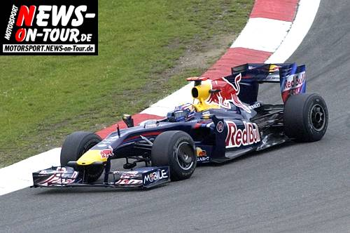 Motorsport.NEWS-on-Tour.de: Doppelsieg für Red Bull! Erster Sieg trotz Durchfahrtsstrafe für Mark Webber in der Formel 1 beim Großen Preis von Deutschland @Nürburgring