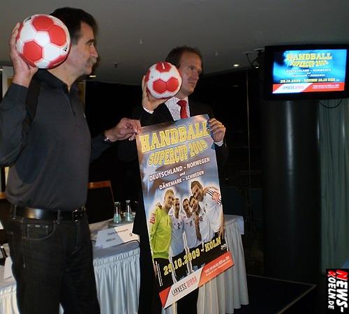 Heiner Brand - Stefan Löscher - Handball Super Cup - LANXESS arena