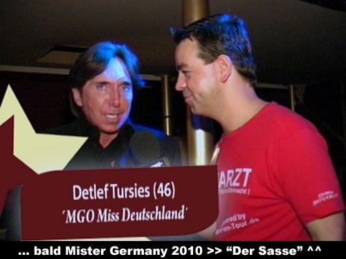 Detlef Tursies (MGO Miss germany) und ´Mister German 2010´ Christian Sasse