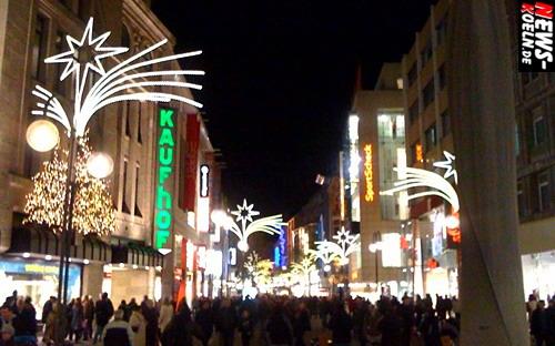 Köln Hohe Strasse Weihnachten Schildergasse