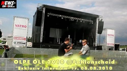 Olpe Ole 2010! Exklusives TV-Interview mit Veranstalter Markus Krampe VOR dem Mega-Event! TV.NEWS-on-Tour.de besuchte die Aufbauarbeiten in Fahlenscheid