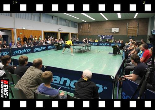 (5x Videos) Bergneustadt: Deutsche Pokalmeisterschaft im Tischtennis! Knappe 3:2 Niederlage gegen Erstligaverein. TTC Schwalbe Bergneustadt (2. Liga) macht es dem SV Plüderhausen erheblich schwer und lag zwischenzeitlich sogar 2:1 in Führung