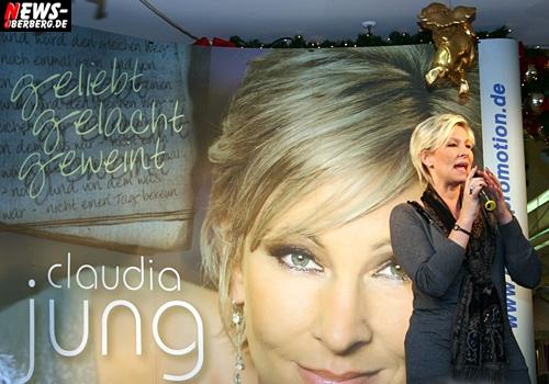 Oberbergischer Kreis (Gummersbach): ´Geliebt, gelacht, geweint´. Schlagersängern Claudia Jung stellte ihre neue CD vor. Rund 150 Fans waren restlos begeistert in der Mall des EKZ Bergischer Hof