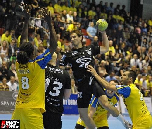 EHF CUP Finale: (68 aktuelle Fotos aus Frankreich!) Titelverteidiger VfL Gummersbach mit einer Hand am Pokal! 30:28 Sieg im Hinspiel gegen Tremblay-en-France und somit eine ideale Ausgangposition für den VfL für das Rückspiel in der Lanxess Arena am kommenden Freitag 20.05.2011