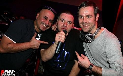 DJ M-Stuff (Nachtflug Köln), DJ T-Mo (Resident DKdance) und MC Biggie (Riu Palace Mallorca)
