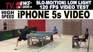 iPhone 5s SLO-MO 120 FPS Camera Video Test | High Speed Amateur Table Tennis | Low-Light!