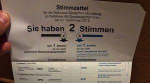 Bundestagswahl 2013 (Oberbergischer Kreis) Vorläufiges Gesamtergebnis | Erststimmen und Zweitstimmen | Gewinne und Verluste