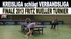 Tischtennis: Kreisliga schlägt Verbandsliga! 23. Fritz Müller Gedächnisturnier 2013   Tischtennis Vorgabeturnier   Video   Oberbergischer Kreis