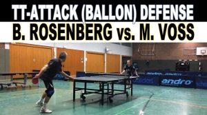 HD-Video: TT Spectacular! Angriff vs. Ballonabwehr   Boris Rosenberg vs. MARTIN Voss 10.12.2013 Tischtennis