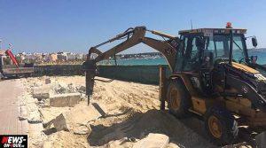 Mallorca: Am Ballermann 4 rollen die Bagger! Beliebte Mauer am Strand ist bereits abgerissen. Ballermann 6 und B8 sollen folgen
