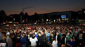 #WM2014: Public Viewing Gummersbach: Über 2.200 Fussballfans sahen das 2:2 von Klose auf dem Steinmüller Gelände | Mit Video