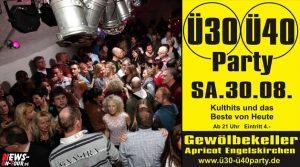 Engelskirchen: Ü30/Ü40 Party am Sa. 30.08.2014 im Gewölbekeller im Cafe Apricot! Kulthits und das Beste von Heute
