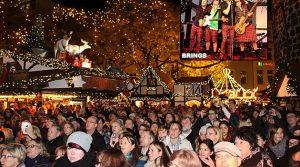 Köln: BRINGS eröffnete das neue Nikolausdorf (Weihnachtsmarkt) am Rudolfplatz musikalisch!