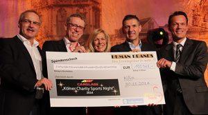 Kölner Charity Sports Night 2014 | Spitzensportler sammelten über 100.000 Euro für den guten Zweck | Dorint Hotel Messe Köln