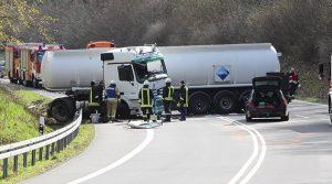 Reichshof: LKA und Polizei erneut am Unfallort des Tanklastzugunfalls! 3D Bild erstellt | TV-Beitrag!